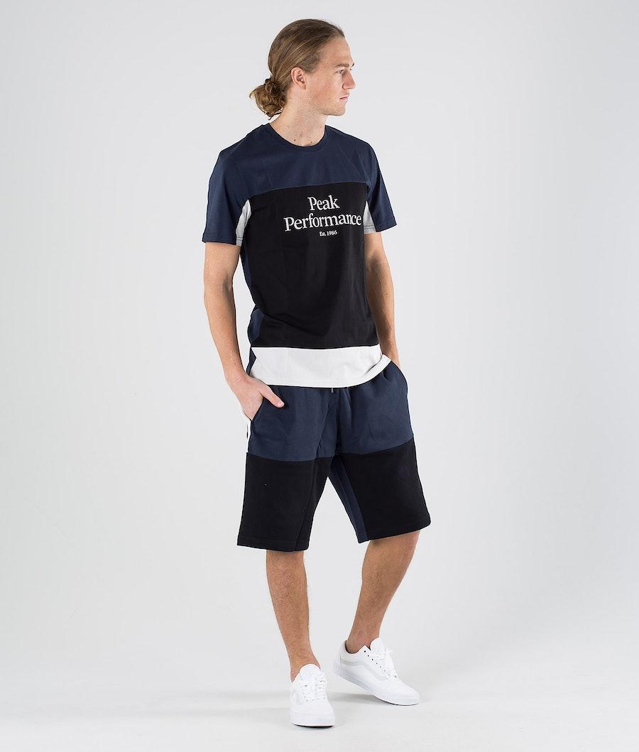Peak Performance Original Blocked Tee T-shirt Blue Shadow