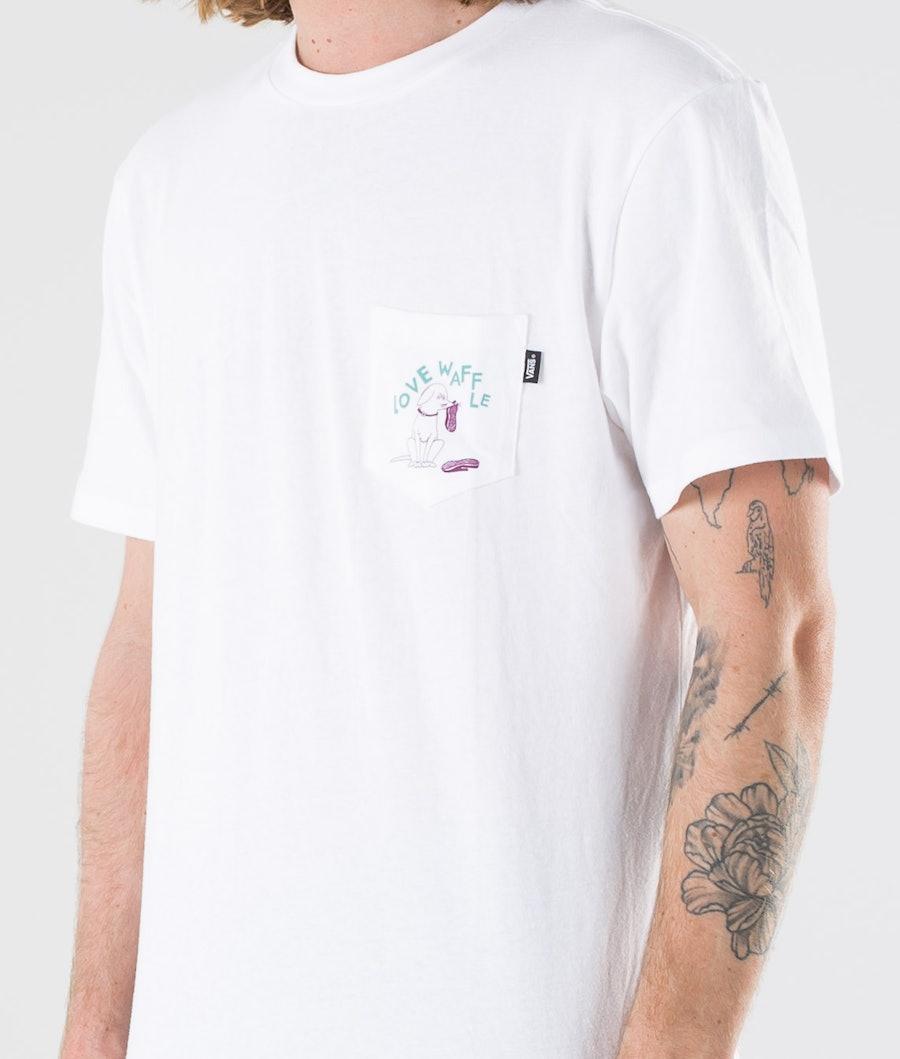 Vans Love Waffle Vintage Overdye Pkt Ss T-shirt White