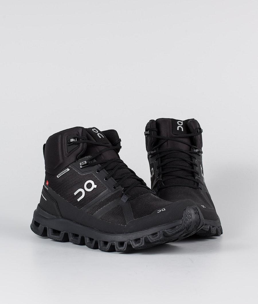 On Shoes Cloudrock Waterproof Women's Shoes All Black
