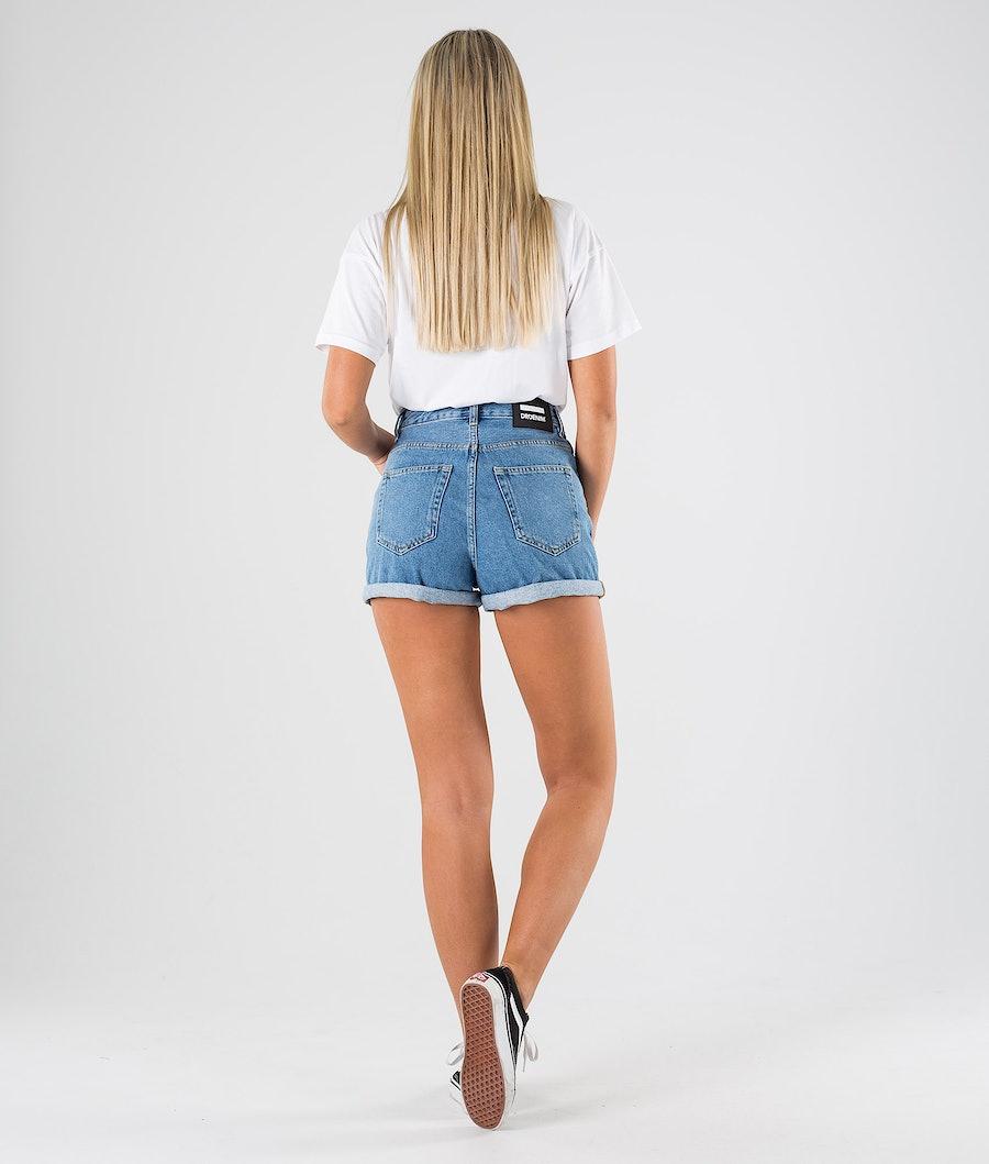 Dr Denim Jenn Shorts Short Femme Retro Sky Blue