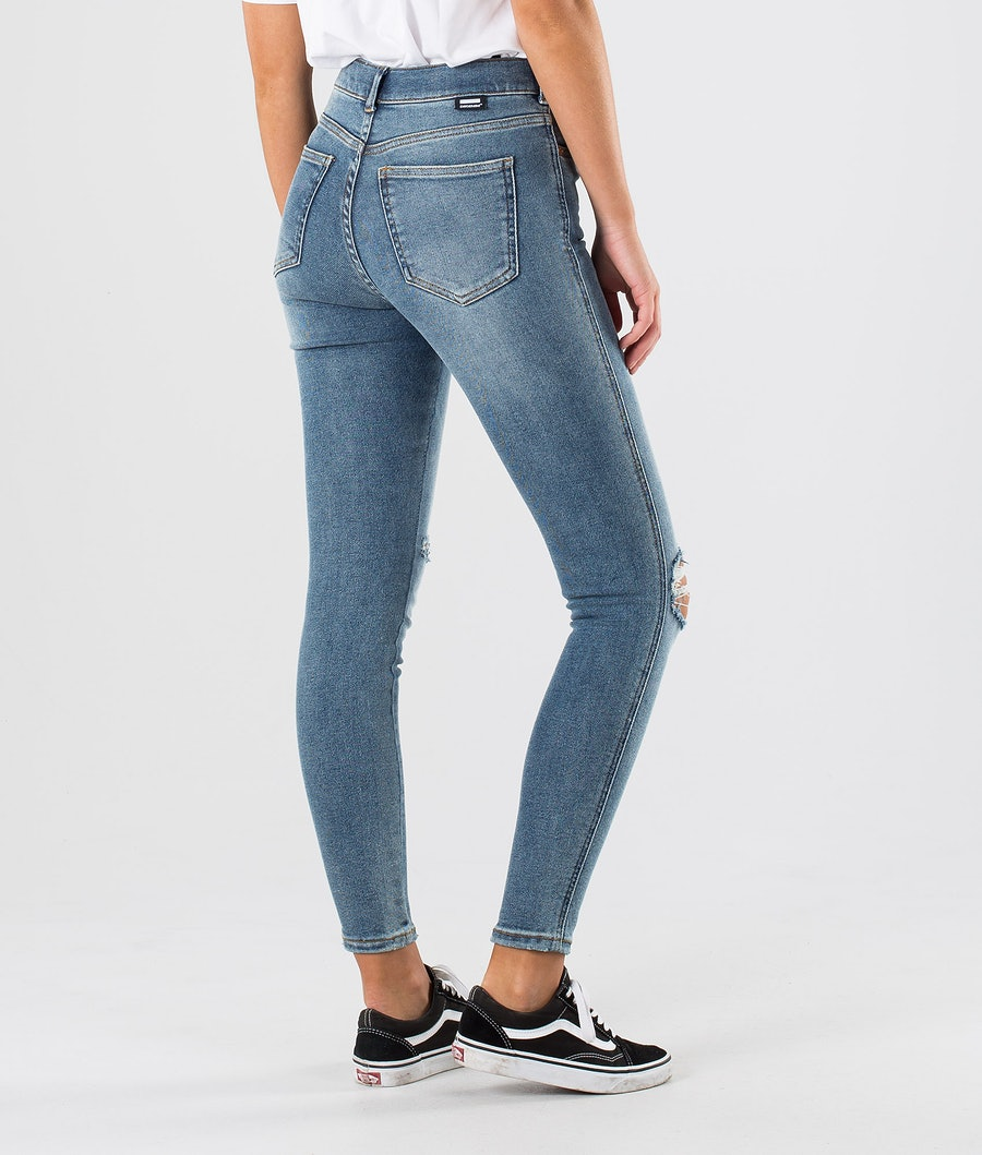 Dr Denim Lexy Women's Pants Westcoast Blue Ripped