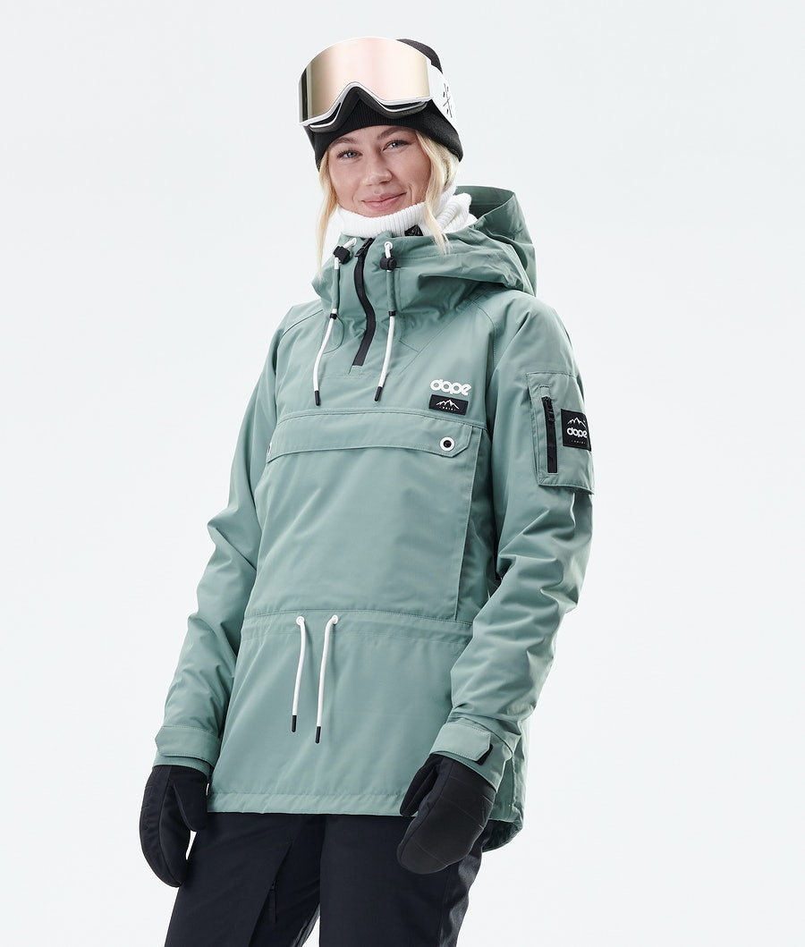 Annok W Snowboard Jacket Women Faded Green