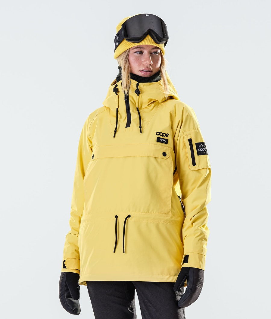 Annok W Snowboard Jacket Women Faded Yellow