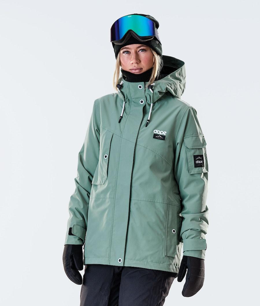 Adept W Snowboard Jacket Women Faded Green
