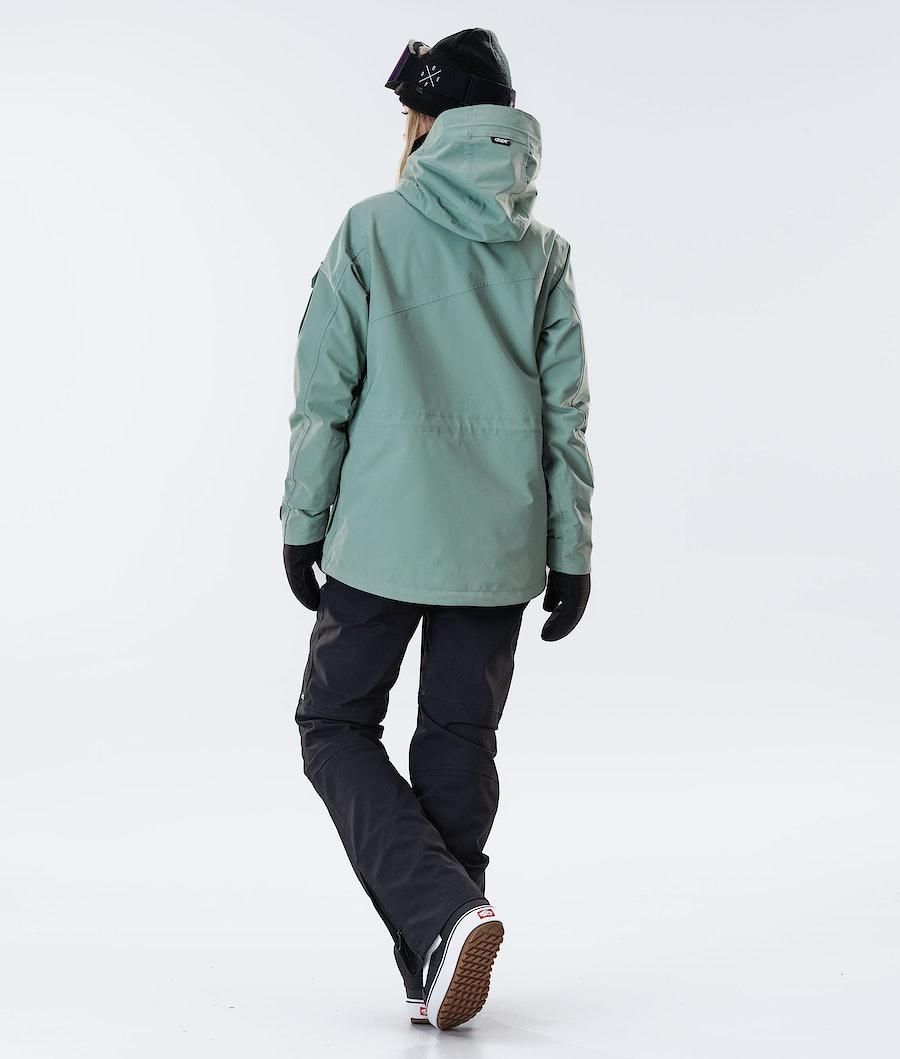 Dope Adept W Women's Snowboard Jacket Faded Green