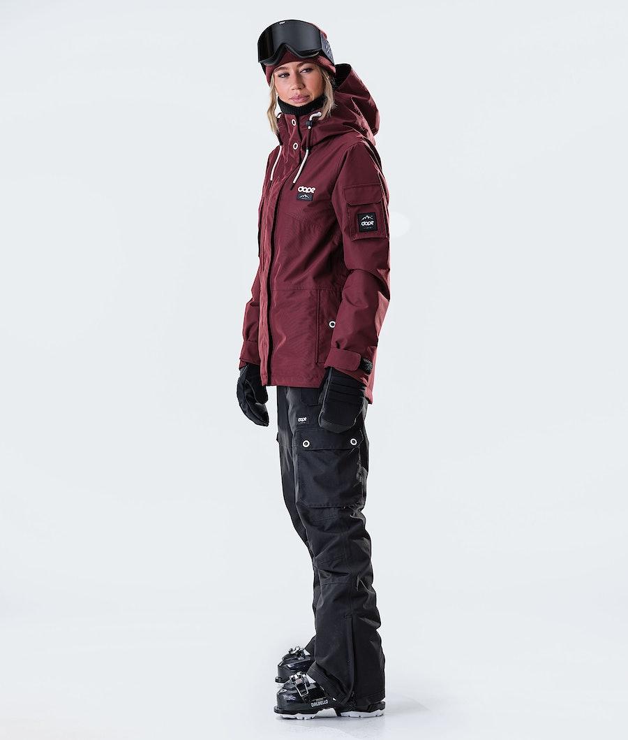 Dope Adept W Ski jas Dames Burgundy