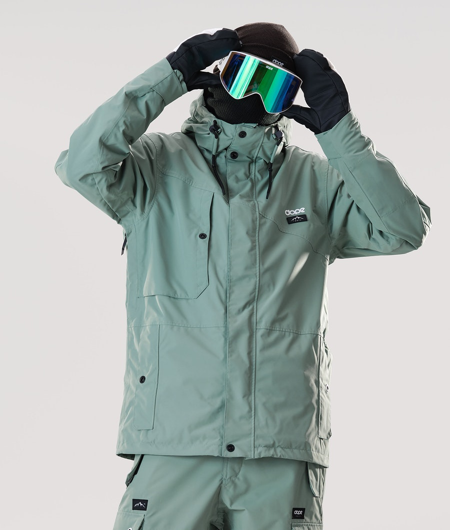 Dope Adept Snowboard Jacket Faded Green