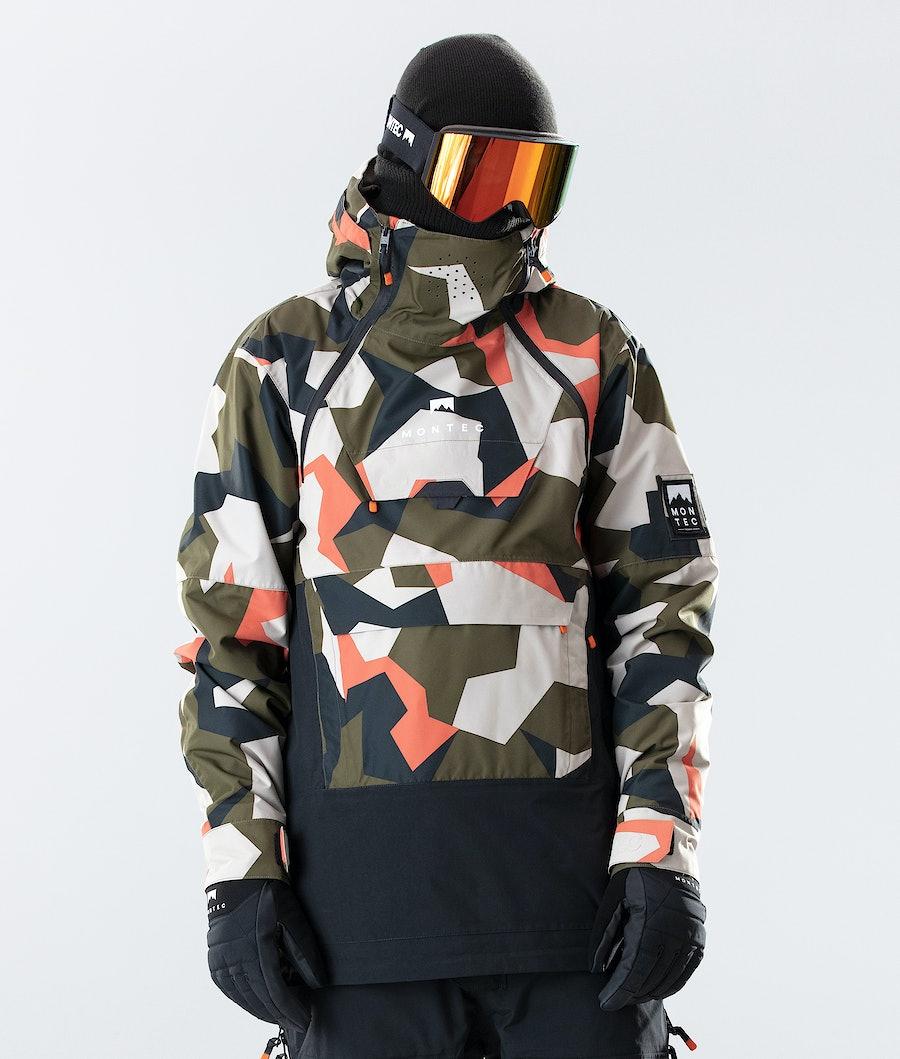 Doom Ski Jacket Men Orange Green Camo/Black