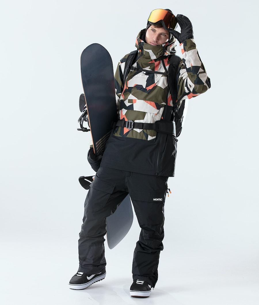 Montec Doom Snowboard Jacket Orange Green Camo/Black