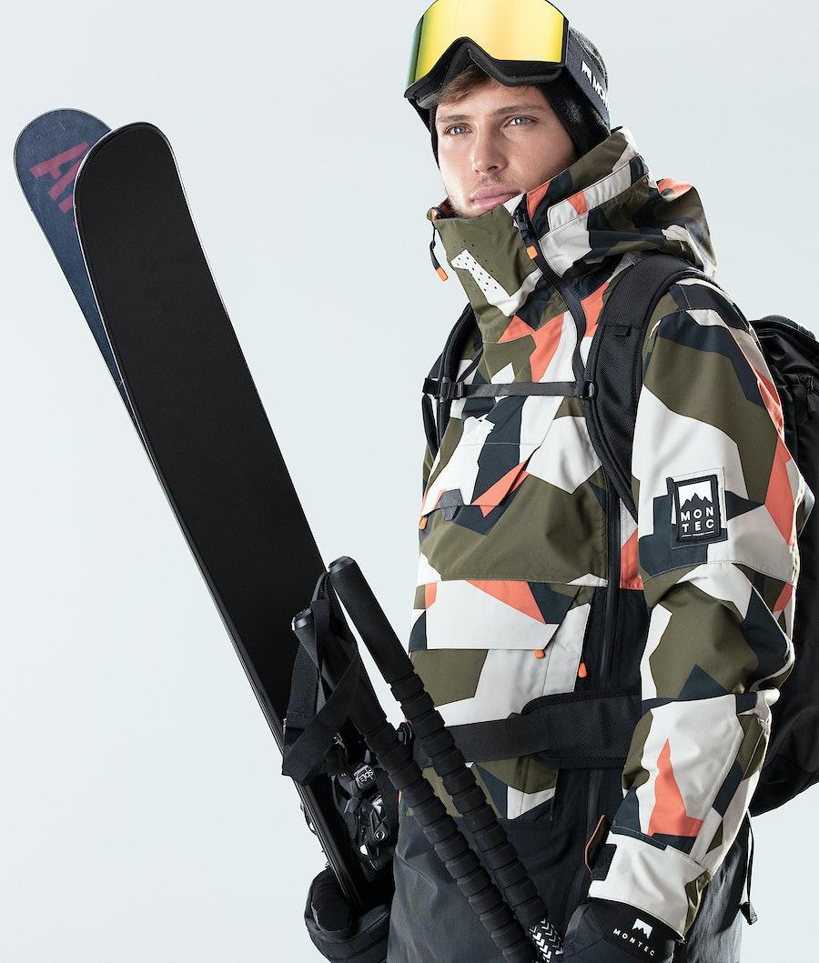 Montec Doom Ski Jacket Orange Green Camo/Black
