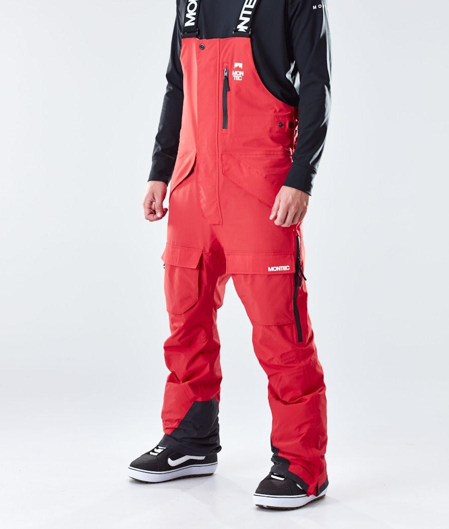 Montec Fawk Pantaloni Snowboard Red