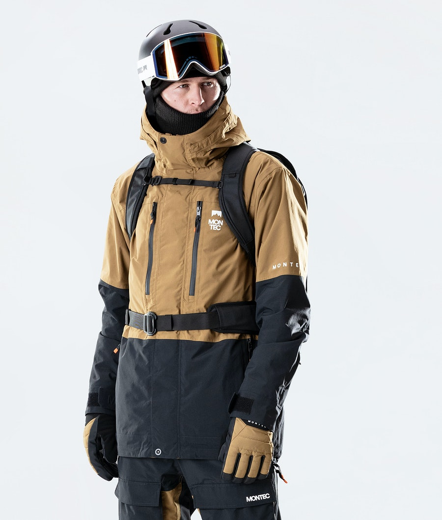 Fawk Ski Jacket Men Gold/Black