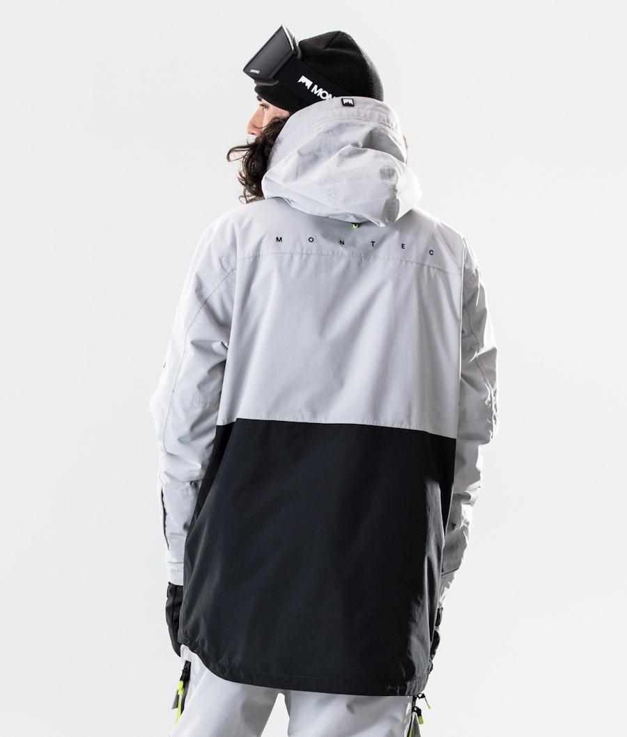 Montec Dune Snowboard Jacket Light Grey/Neon Yellow/Black