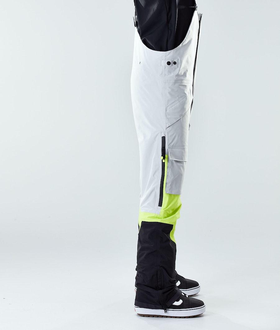 Montec Fawk Snowboard Pants Light Grey/Neon Yellow/Black