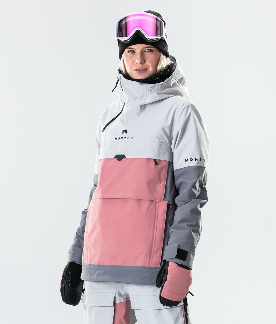 Montec Dune W Giacca Snowboard Donna Light Grey/Pink/Light Pearl