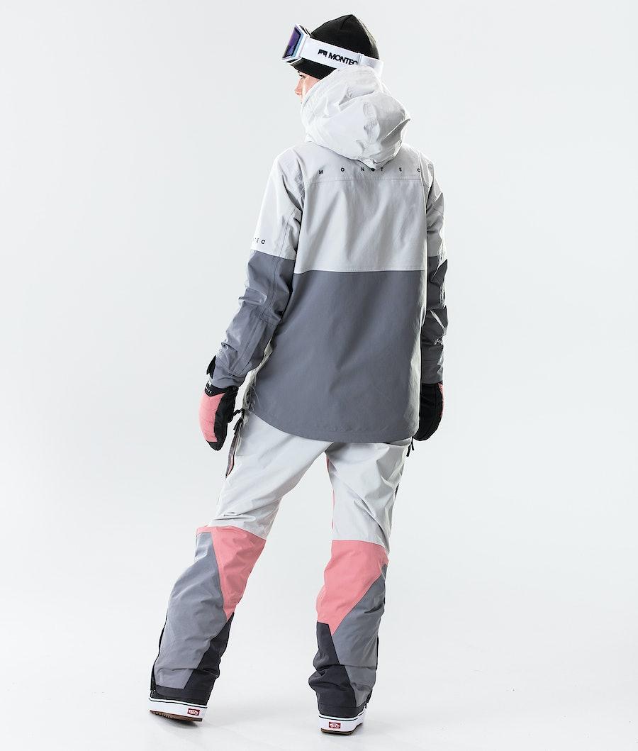 Montec Dune W Women's Ski Jacket Light Grey/Pink/Light Pearl