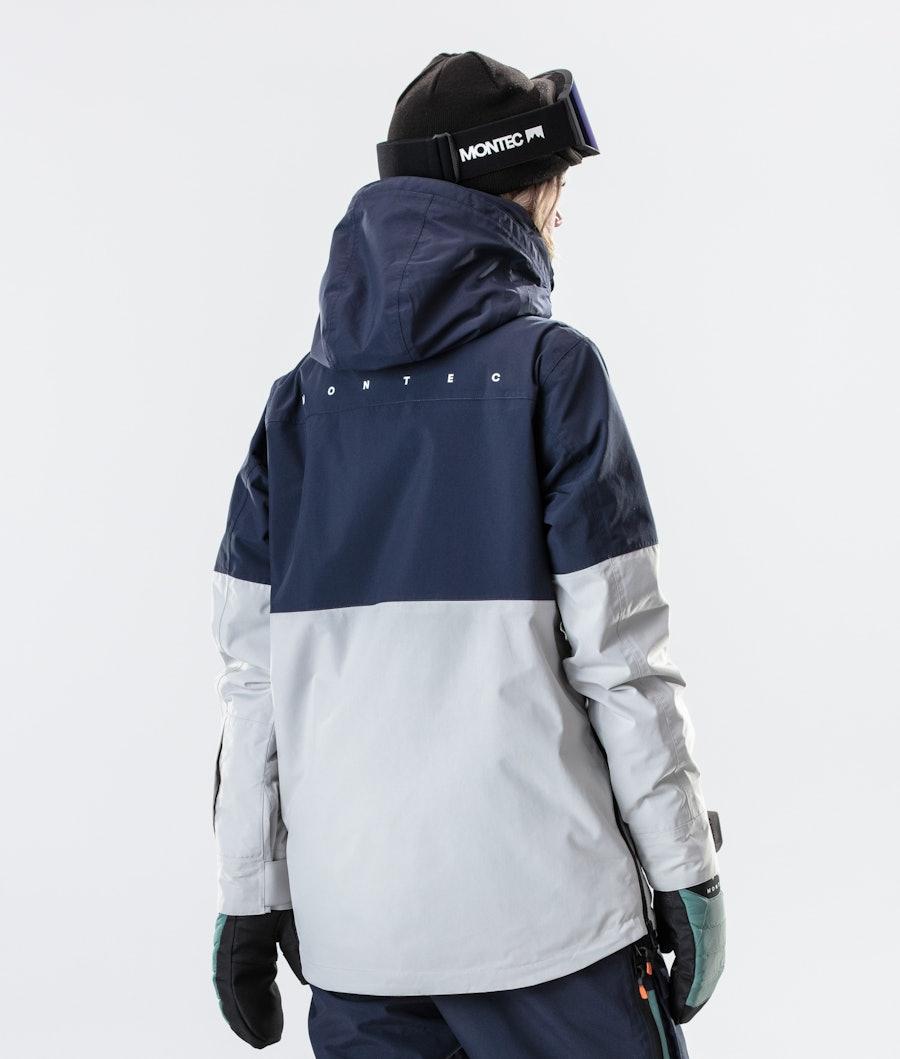 Montec Dune W Women's Snowboard Jacket Marine/Atlantic/Light Grey