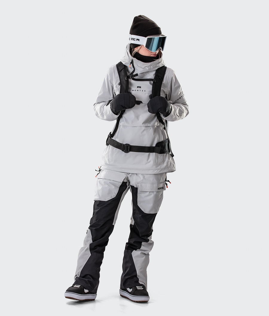 Montec Dune W Women's Snowboard Jacket Light Grey