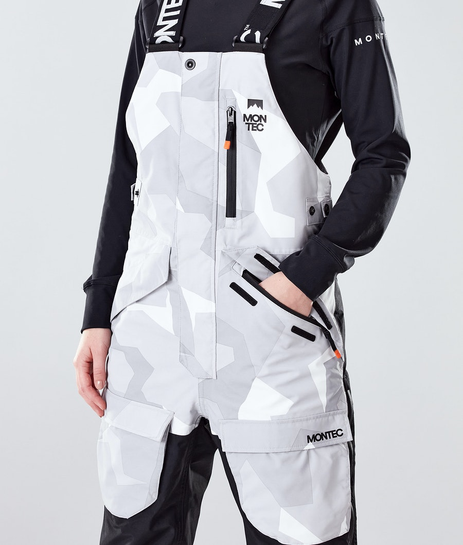 Montec Fawk W Women's Ski Pants Snow Camo/Black