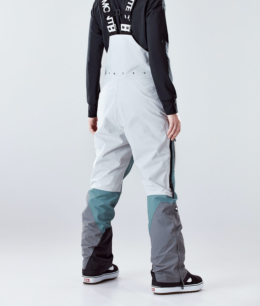 Montec Fawk W Women's Snowboard Pants Light Grey/Atlantic/Light Pearl