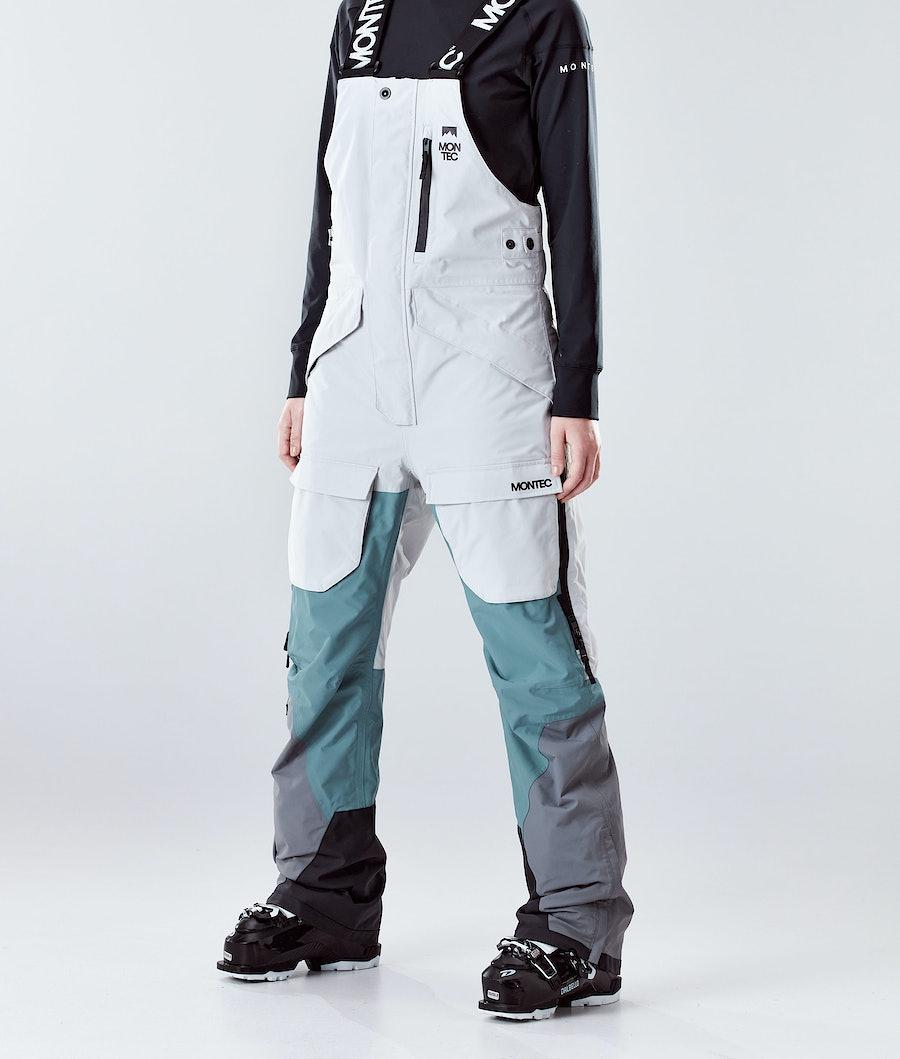 Montec Fawk W Ski Pants Light Grey/Atlantic/Light Pearl