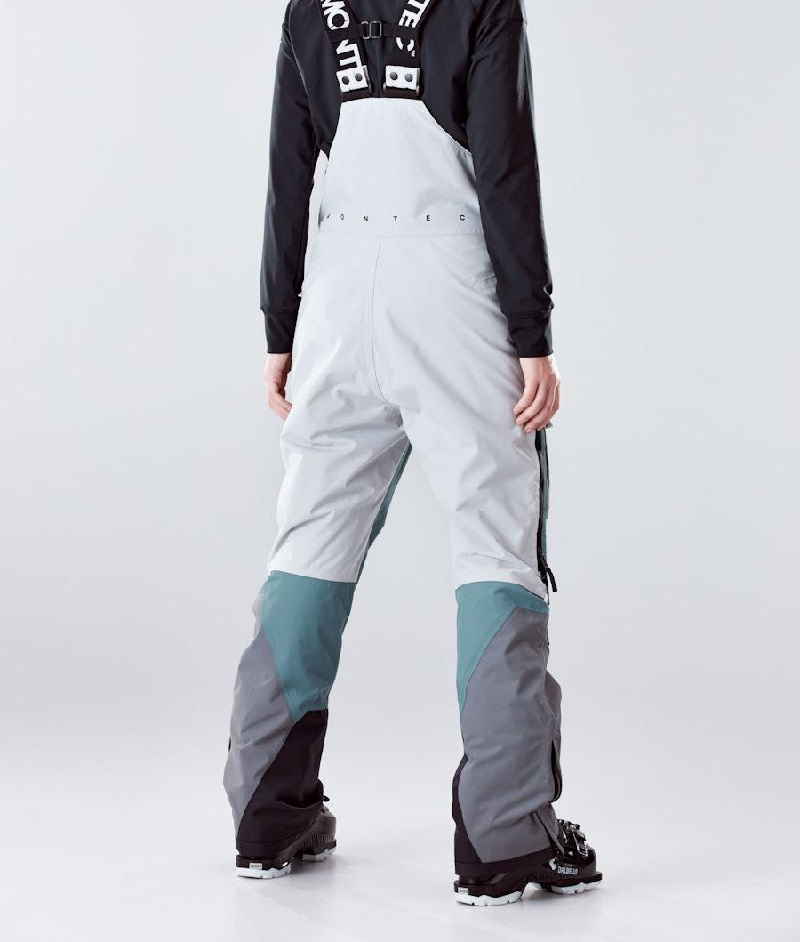 Montec Fawk W Pantaloni Sci Donna Light Grey/Atlantic/Light Pearl