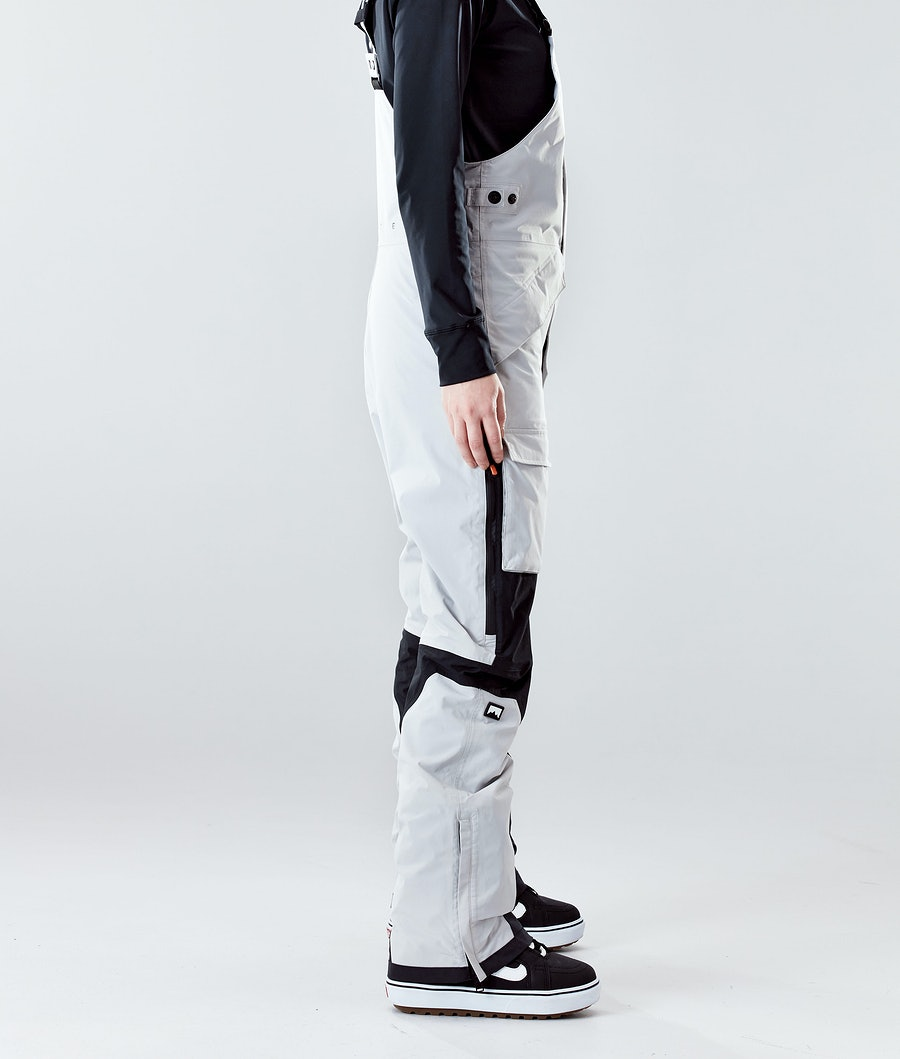 Montec Fawk W Women's Snowboard Pants Light Grey/Black