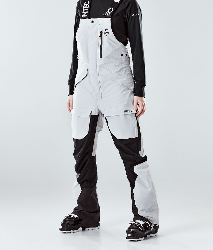 Fawk W Ski Pants Women Light Grey/Black