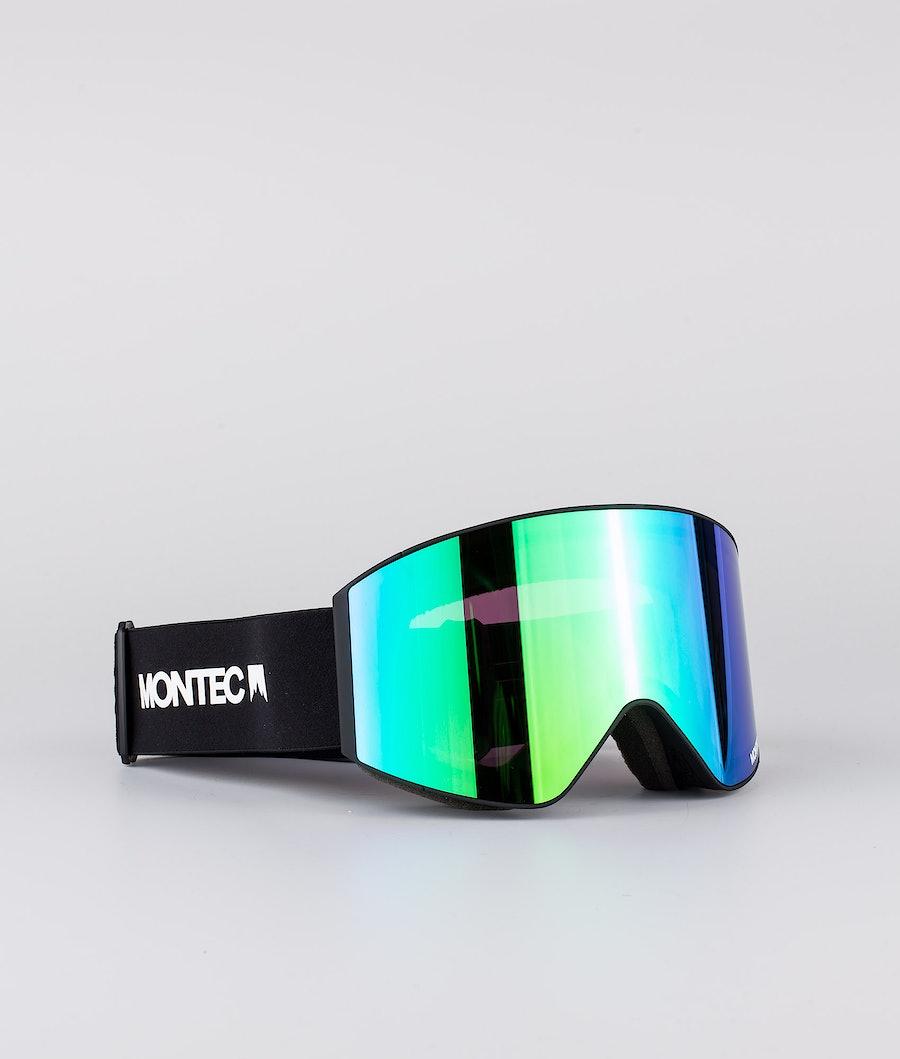 Montec Scope Ski Goggle Black W/Black Tourmaline Green