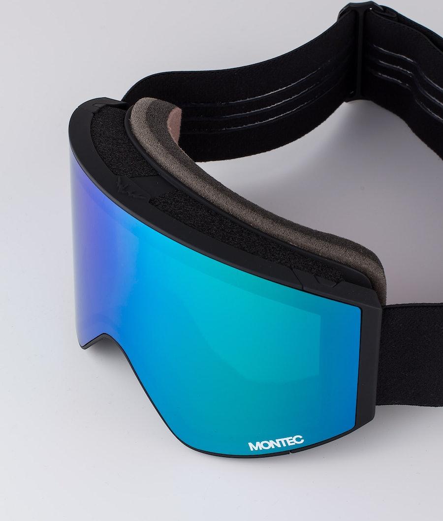 Montec Scope Medium Ski Goggle Black W/Black Tourmaline Green