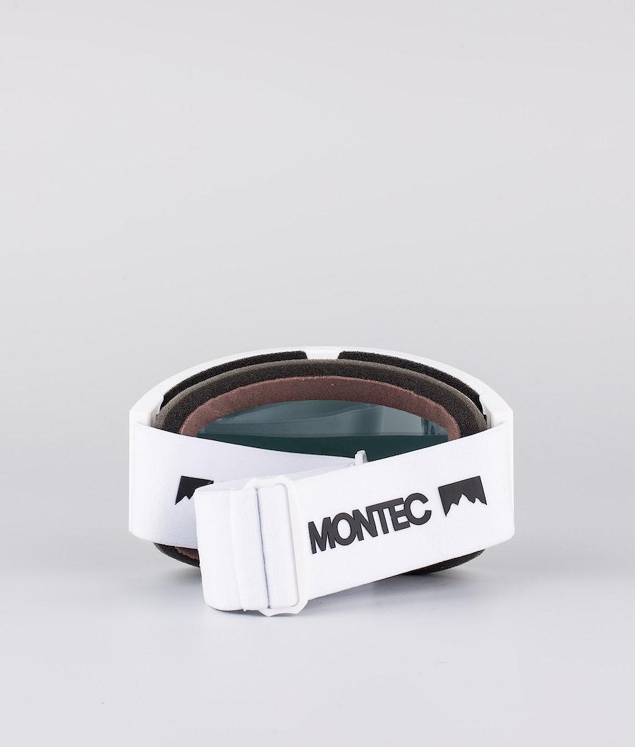 Montec Scope Ski Goggle White W/White Rose