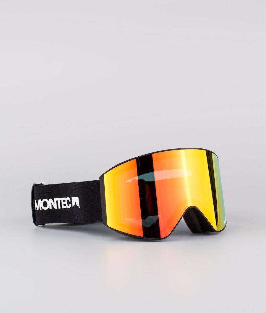 Scope Medium Ski Goggles Men Black W/Black Ruby red