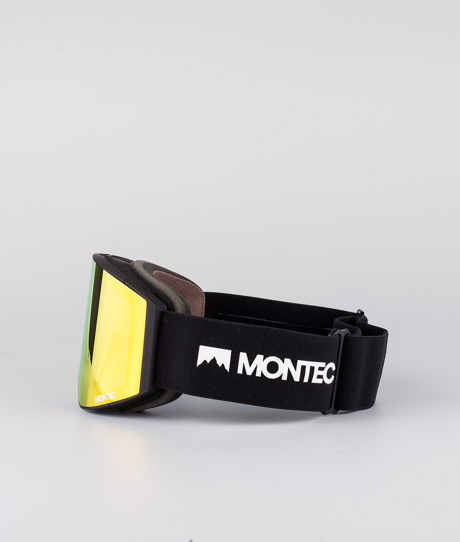 Montec Scope Medium Ski Goggles Black W/Black Ruby red