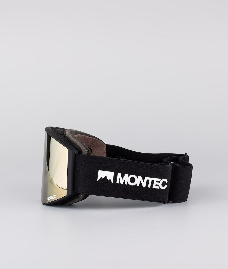 Montec Scope Medium Ski Goggle Black W/Black Rose