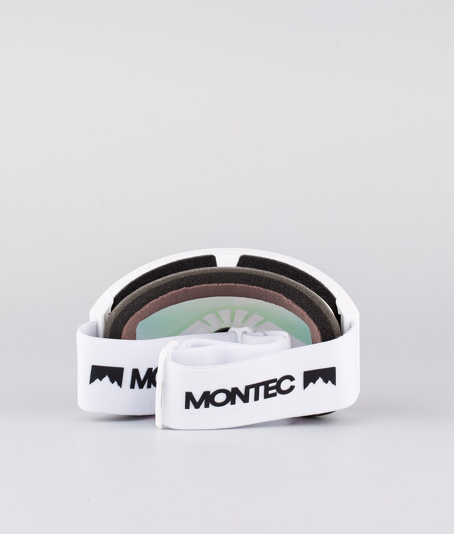 Montec Scope Medium Ski Goggles White W/White Pink Sapphire