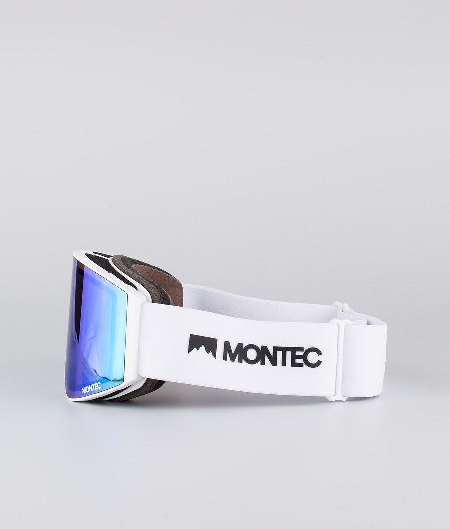 Montec Scope Medium Ski Goggles White W/White Tourmaline Green