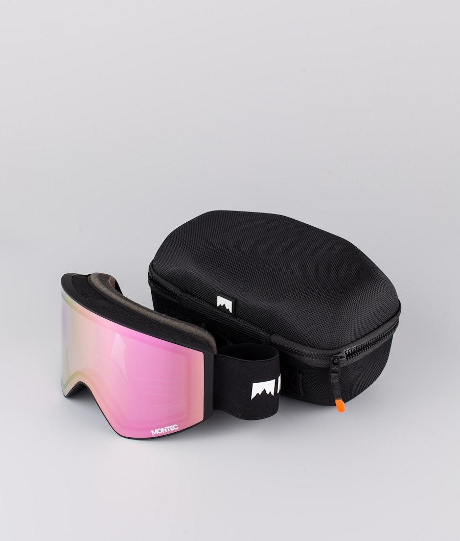 Montec Scope Medium Ski Goggles Black W/Black Pink Sapphire