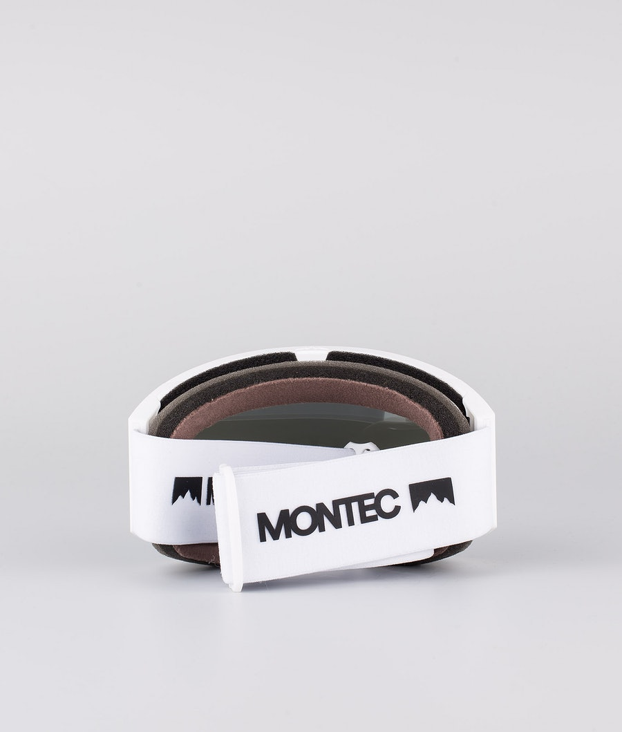 Montec Scope Ski Goggle White W/White Moon Blue