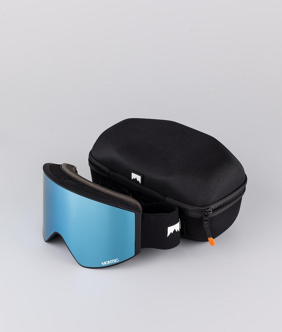 Montec Scope Ski Goggle Black W/Black Moon Blue