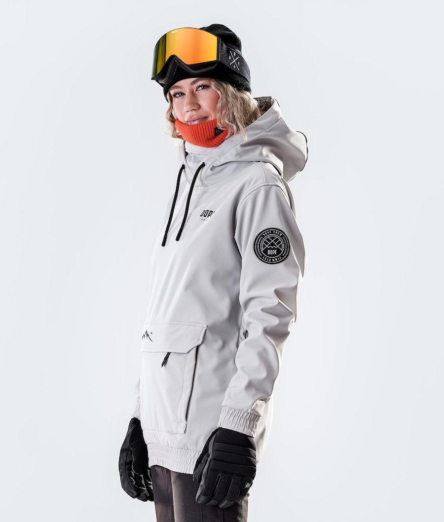 Dope Wylie Capital W Women's Snowboard Jacket Light Grey