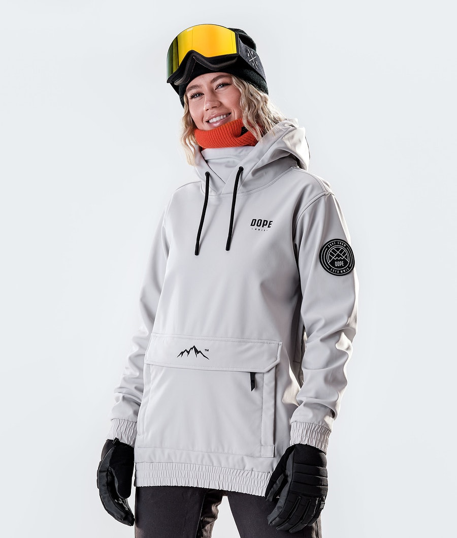 Wylie W 10k Ski Jacket Women Light Grey