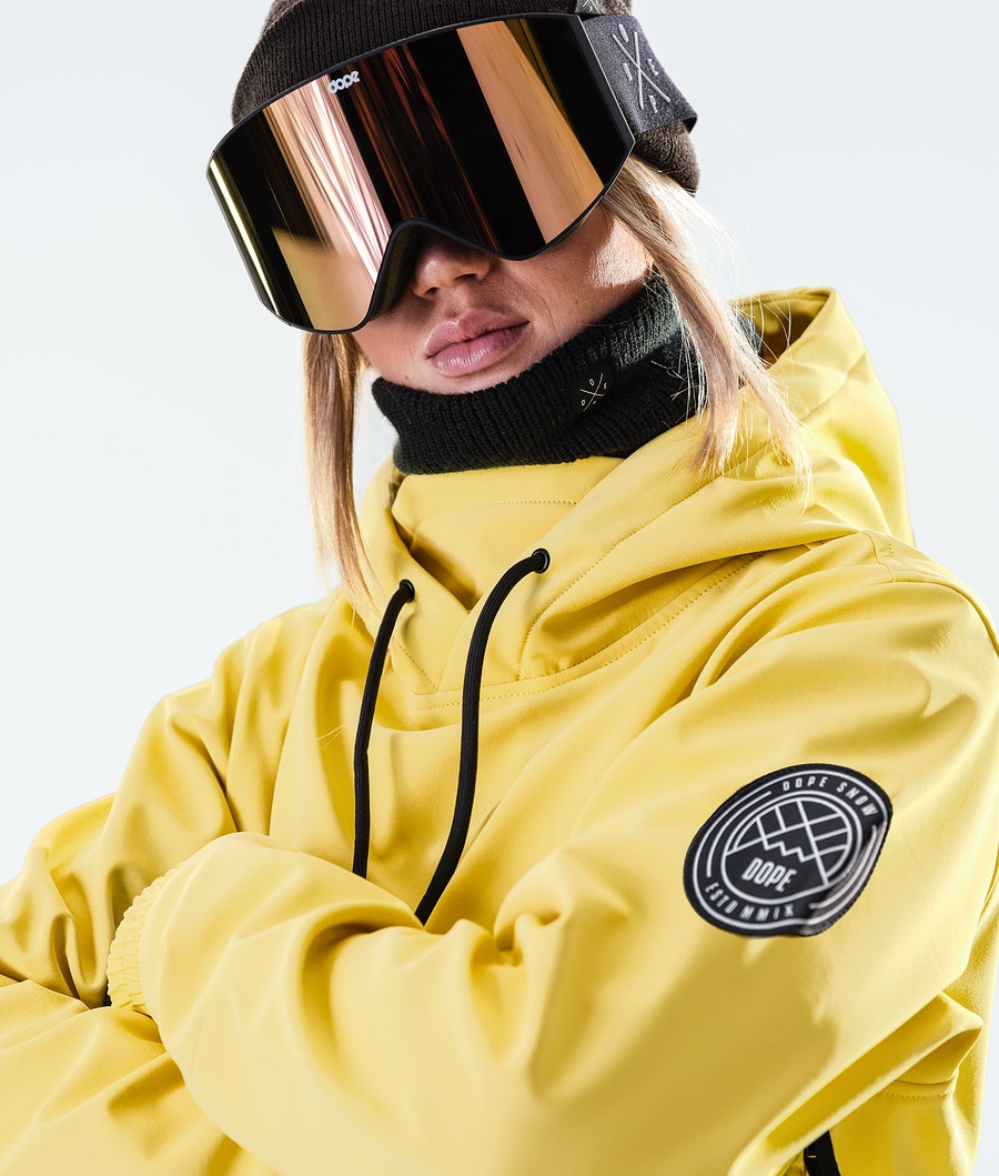 Dope Wylie Patch W Women's Snowboard Jacket Faded Yellow