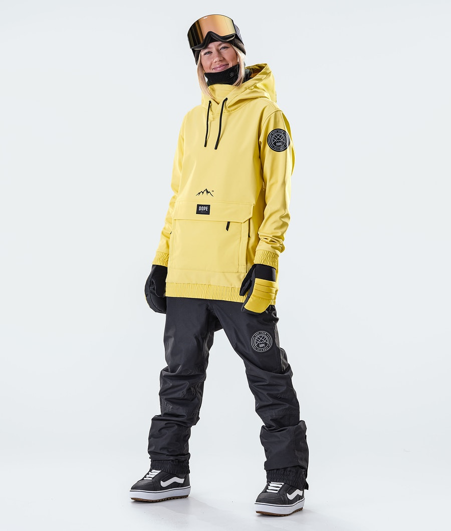 Dope Wylie Patch W Women's Snowboard Jacket Faded Yellow