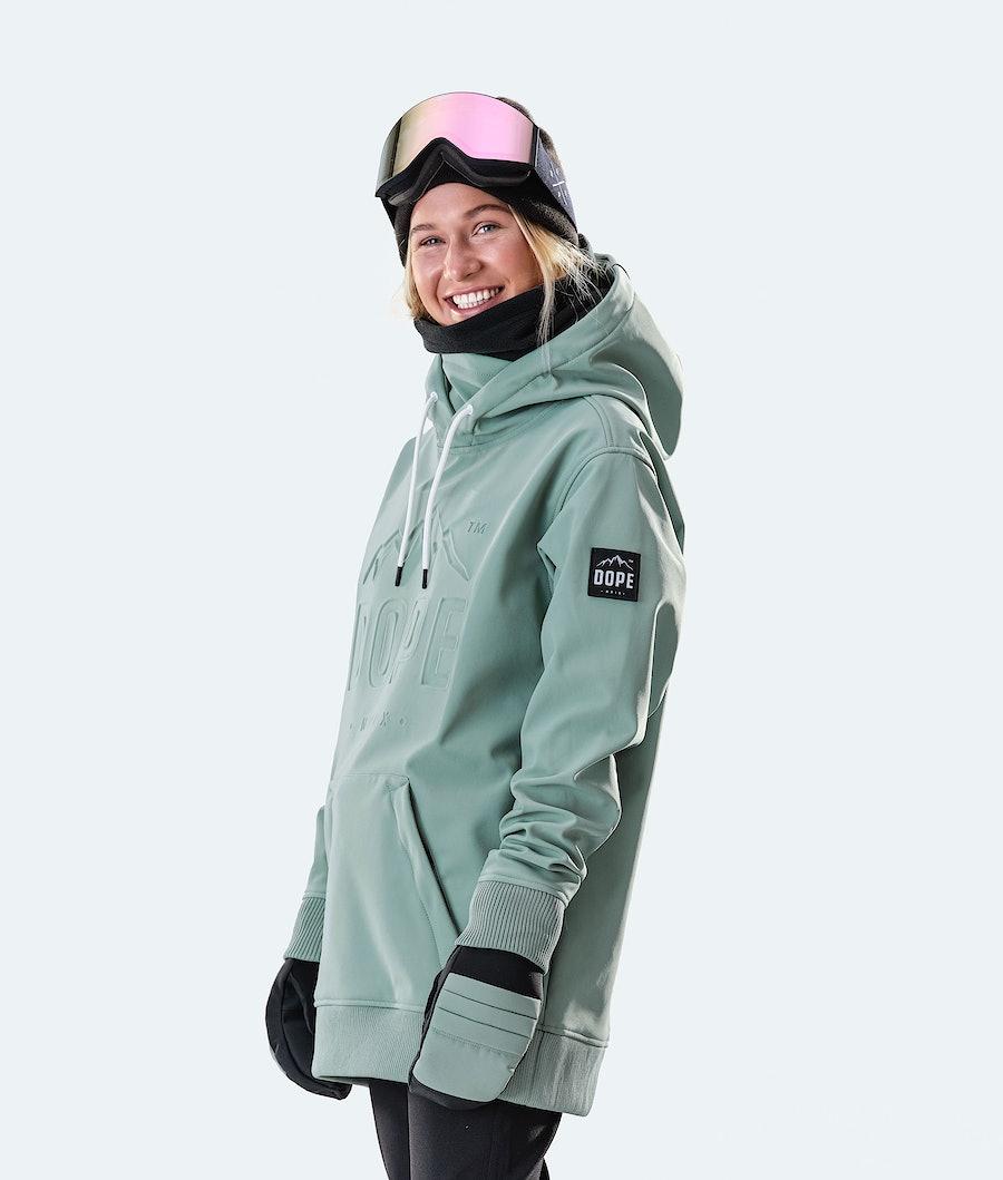 Dope Yeti EMB Ski jas Dames Faded Green