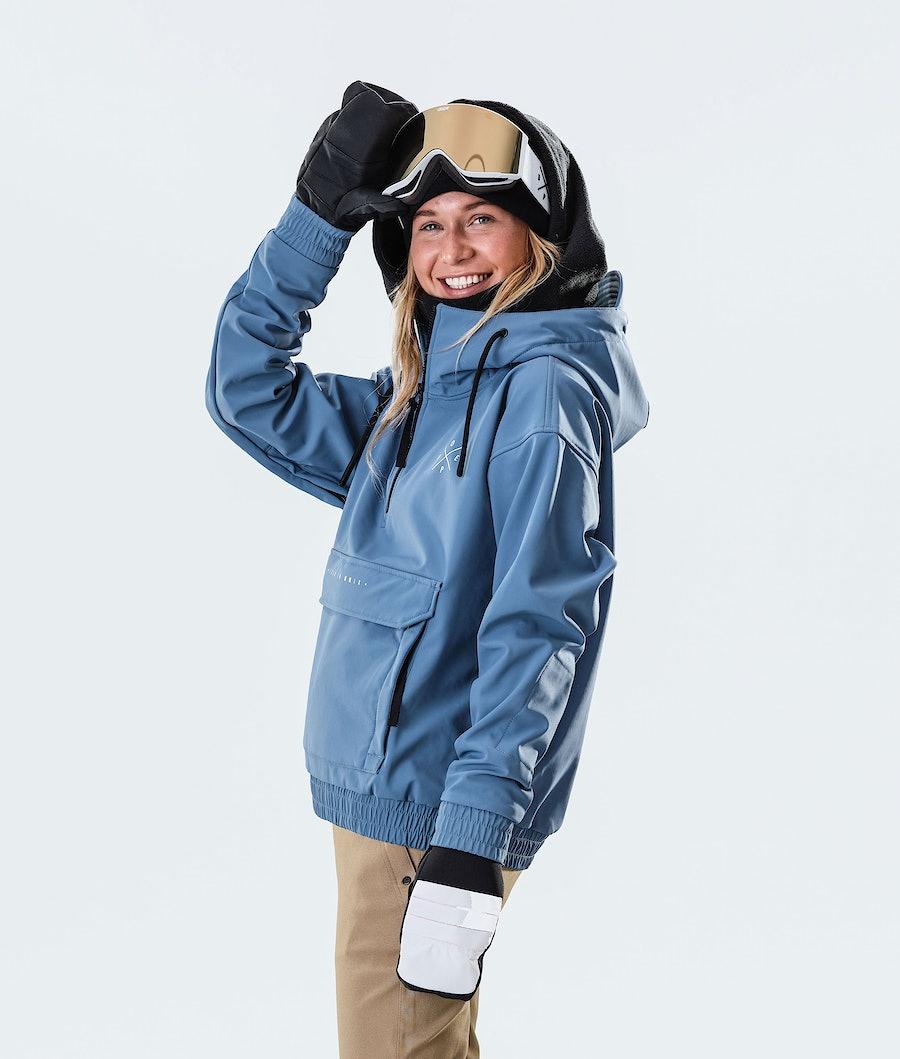 Dope Cyclone W Ski jas Dames Blue Steel