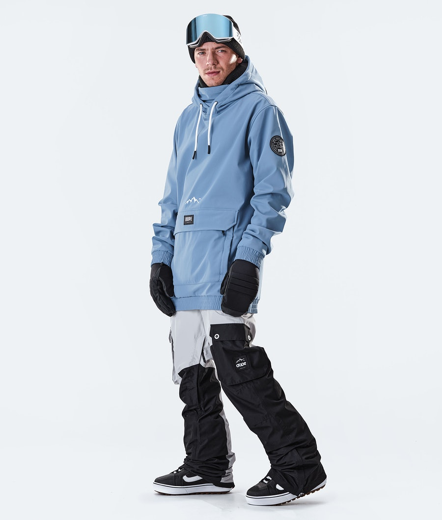 Dope Wylie Patch Snowboard Jacket Blue Steel