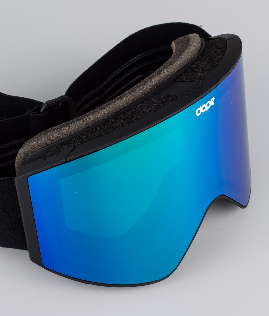 Dope Sight Medium Ski Goggle Black W/Black Green Mirror