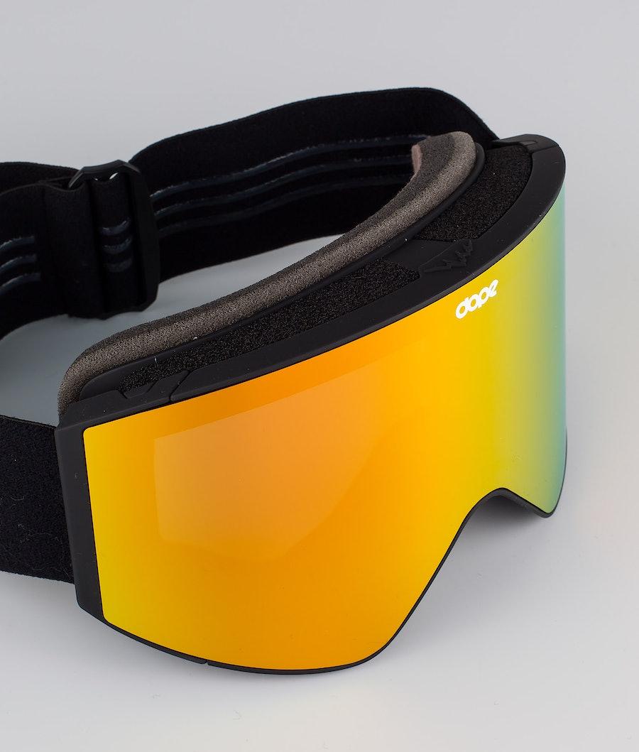 Dope Sight Medium Skibriller Black W/Black Red Mirror