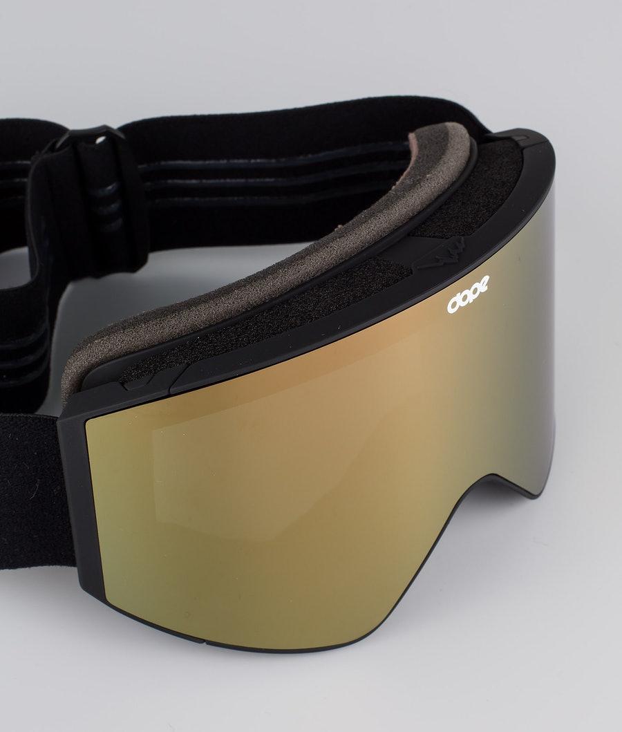 Dope Sight Medium Skibriller Black W/Black Champagne