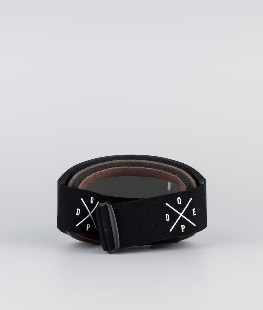 Dope Sight Medium Ski Goggle Black W/Black Blue Mirror